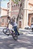 BMX acrobat Royalty Free Stock Image