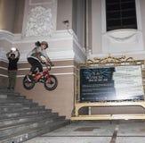 BMX acrobat Royalty Free Stock Images