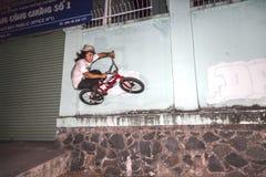 BMX acrobat in Vietnam Royalty Free Stock Image