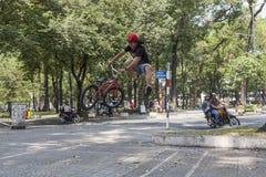 BMX acrobat in Vietnam Stock Photos