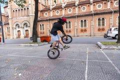 BMX akrobata Obrazy Royalty Free