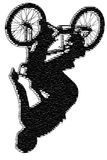 BMX art 005. A BMX rider on a bike, art and photo illustration Royalty Free Stock Photography