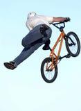 BMX art 007. A BMX rider on a bike, art and photo illustration Royalty Free Stock Photos