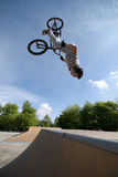 BMX Back Flip Stock Images