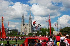 BMX BACK FLIP on Canada Day in Ottawa Stock Photo