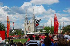BMX BACK FLIP on Canada Day in Ottawa Stock Photos