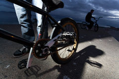 BMX bicycle, detail Royalty Free Stock Images
