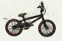 BMX Bicycle Illustration Stock Photo