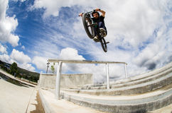 Bmx big air jump Royalty Free Stock Image