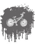 BMX bike. On splash background. vector illustration Stock Photo