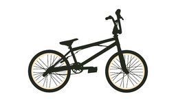 BMX Bike. Black Silhouette on White Background. Isolated Vector Illustration Royalty Free Stock Image