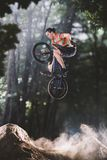 Bmx bike rider on the highlights Royalty Free Stock Photography