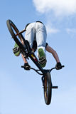 BMX Bike Stunt Aerial Royalty Free Stock Photos
