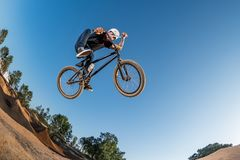 BMX Bike Stunt Table Top Stock Photos