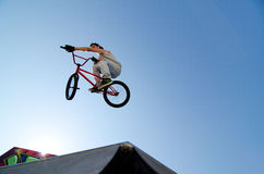 BMX Bike Stunt Table Top Royalty Free Stock Photos