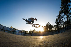 BMX Bike Stunt Table Top Royalty Free Stock Photography