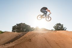 BMX Bike Stunt Table Top Stock Photos