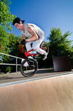 BMX Bike Stunt tail whip Stock Images