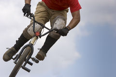BMX biker Airborne Royalty Free Stock Images