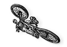 BMX biker Illustration Royalty Free Stock Photo