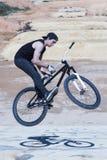 BMX biker jump Royalty Free Stock Photography