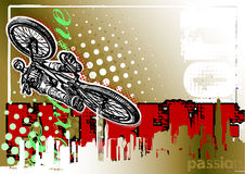 BMX biker poster background Royalty Free Stock Photos