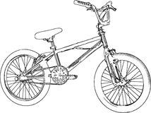 BMX Sketch Stock Photography