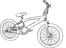BMX Sketch Royalty Free Stock Photography