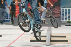 BMX Competition Royalty Free Stock Image