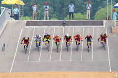BMX competition Royalty Free Stock Images