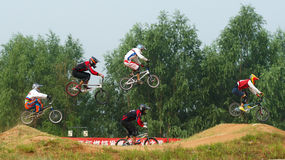 BMX competition Stock Images