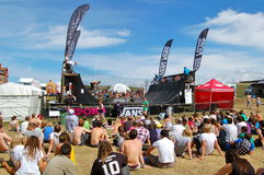BMX competition at Relentless Boardmasters event. Newquay, Cornwall, UK - 8 August 2010: BMX event at the Relentless Boardmasters competition Stock Photos