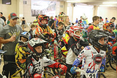 BMX competitors. Getting ready for the nationals at the South Point casino in Las Vegas Stock Photos