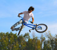 BMX cycling, bicycle sport Royalty Free Stock Photos