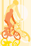 BMX cyclist. Vector image of BMX cyclist Stock Photo