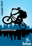 BMX cyclist. Vector image of BMX cyclist Royalty Free Stock Photo