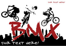BMX cyclist Royalty Free Stock Photos