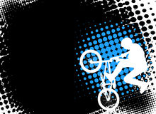 Bmx cyclist on the abstract background Royalty Free Stock Photos