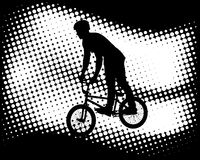 Bmx cyclist on the abstractbackground Royalty Free Stock Photo