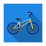 BMX Cyclist Bicyclist Athletes Sportsman. Bike for jumps and athletes Royalty Free Stock Image