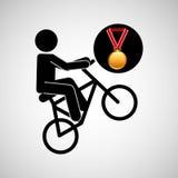 Bmx cyclist medal sport extreme graphic Stock Photos