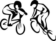 BMX cyclist Stock Photography
