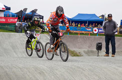 BMX cyclists Royalty Free Stock Images