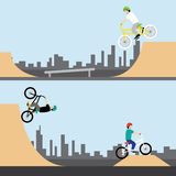 BMX-cykel Fotografering för Bildbyråer