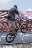 BMX-cyklist Royaltyfria Bilder