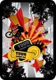 bmx cyklista Obrazy Royalty Free