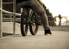 BMX dans le style de vintage images stock