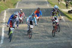 BMX die Pools Kampioenschap rennen Stock Foto