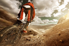 BMX downhill Stock Photo