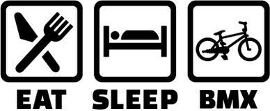 BMX - Eet slaappictogrammen royalty-vrije illustratie